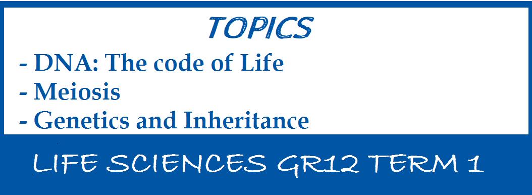 LIFE SCIENCES GR12 TERM 1